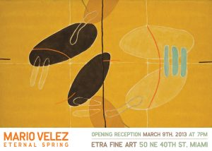 Eternal Spring by Mario Vélez, yellow, orange, black, famous contemporary modern art for sale, miami etra fine art gallery, new york gallery,