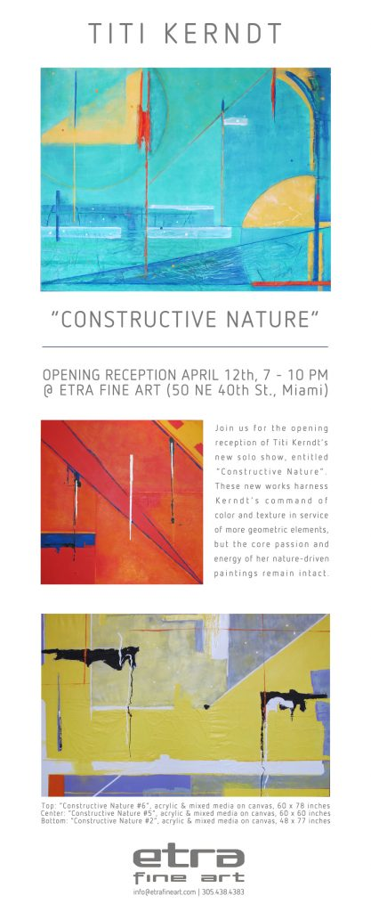 mixed media on canvas artwork by titi kerndt, famous contemporary artist, etra fine art gallery opening reception news, exhibits, red, blue