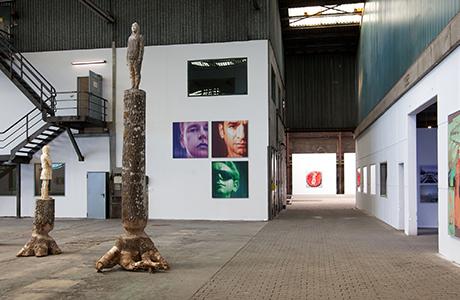 nordart fair, inside view, canvas artworks, sculpture artworks, miami etra fine art gallery news,